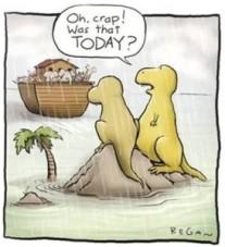 Procrastination-Dinosaurs-Noahs-Ark-cartoon-273x300